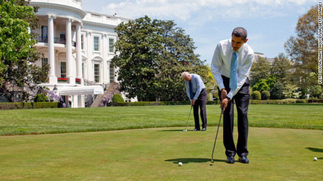 Photos: Presidents take a swing at golf