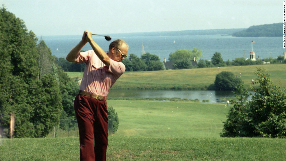 "Gerald Ford, the 38th president, enjoyed golf, and even <a href=""http://edition.cnn.com/2014/10/20/sport/golf/golf-presidents-white-house/"">played in tournaments</a>."