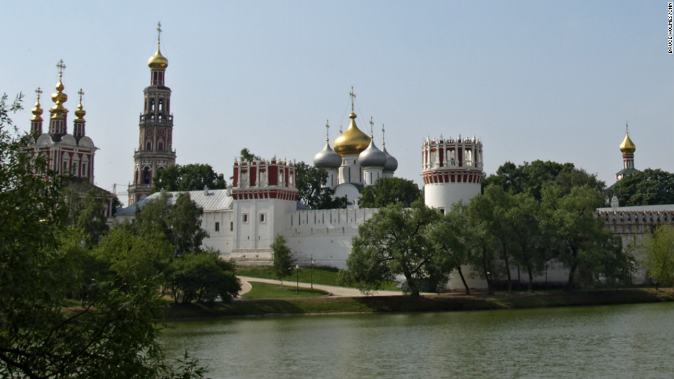 Anton Chekov and Boris Yeltsin are among those buried at Moscow's Novodevichy Cemetery, adjacent to the World Heritage listed Novodevichy Convent (pictured).