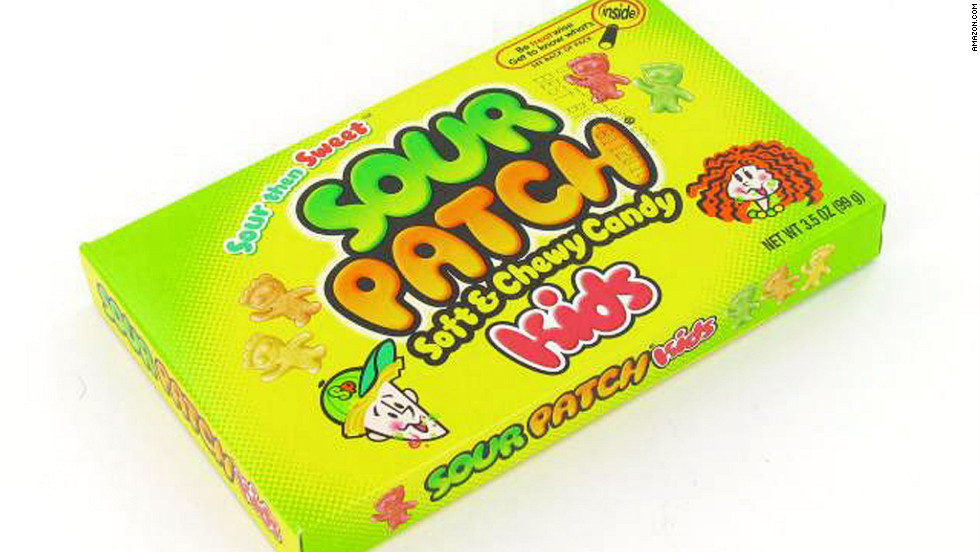<strong>Best sour candy: Sour Patch Kids, 3.5-ounce box </strong><br />This movie theater classic is actually one of the lowest-calorie candies you can choose, thanks to its relatively small box. (That's not to say a jumbo-size box isn't on its way to a theater near you.) <br /><br />Nutritionally, it's similar to other sugary candies: 150 calories per 40 grams, totaling 395 calories and 65 grams of sugar in each box. There's one more plus to these sour-then-sweet candies: Because of their strong flavor, you may find yourself sucking on them longer and eating fewer of them, says Kriegler.