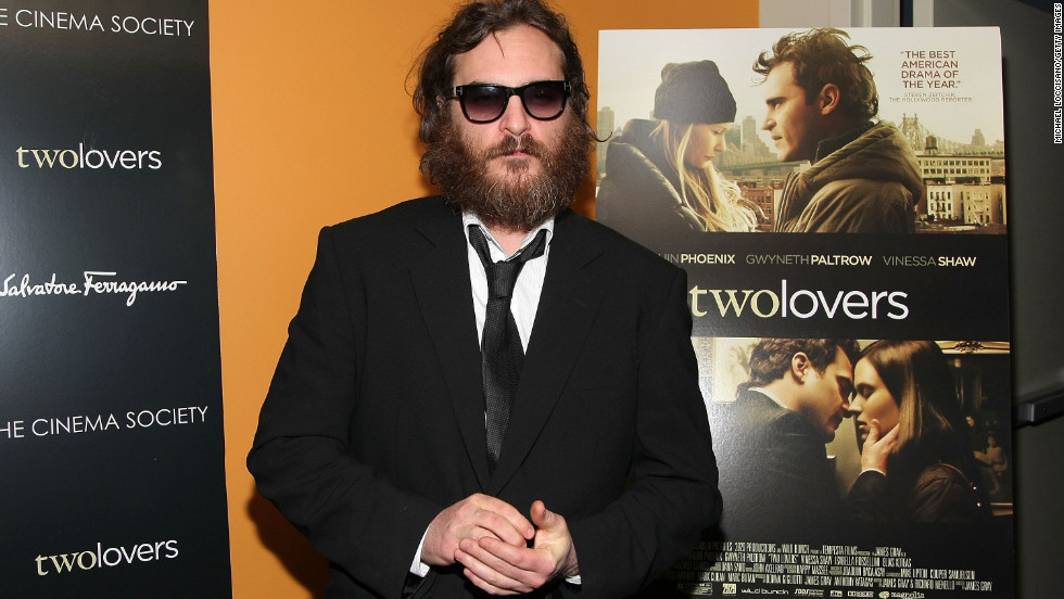 "The actor, 38, shown here in his <a href=""http://marquee.blogs.cnn.com/2010/08/17/joaquin-phoenix-im-still-here-trailer-hits-web"" target=""_blank"">""I'm Still Here""</a> phase attending a screening of ""Two Lovers"" in 2009, earned his second Academy Award nomination for his portrayal of Johnny Cash in 2005's ""Walk the Line."""