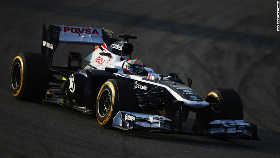 Pastor Maldonado took the new Williams for a spin at Barcelona on February 19 following the launch at Circuit de Catalunya.