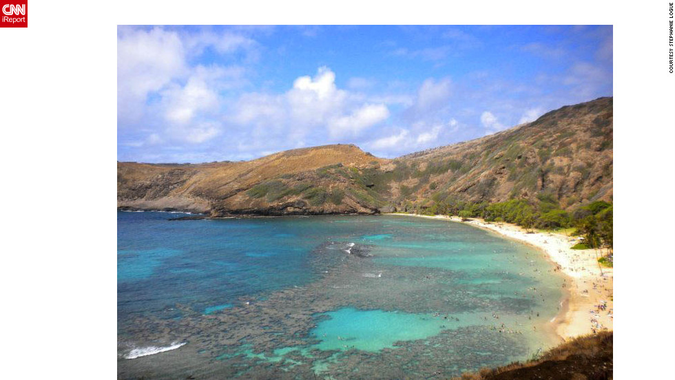 "After returning from Iraq, Stephanie Logue spent six weeks working with her Army unit in Hawaii. When she had a day off, she went snorkeling in Hanauma Bay. ""The shape of the beach, the abundance of reef, reef fish and turtles really stood out,"" she says. ""You can swim in fairly shallow waters and see amazing species."""