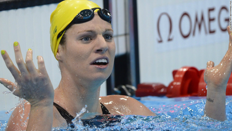The Australian swim team was criticized for under-achieving in London -- Emily Seebohm blamed her overuse of social networking website Twitter for her failure to win gold despite being favorite in the women's 100m backstroke.