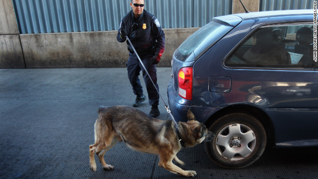 "The Supreme Court found Tuesday that a positive ""hit"" from the sniff of a police dog could establish probable cause for the search of a vehicle."