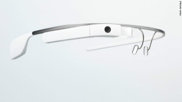 The Google Glass headset lets users shoot photos and video, among other features.