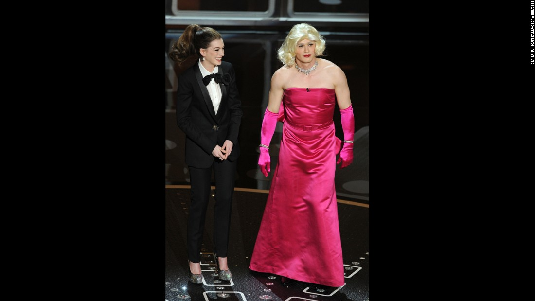 "Anne Hathaway and James Franco are two of the most <a href=""http://marquee.blogs.cnn.com/2011/02/28/oscars-the-bomb-heard-round-the-internet/"">awkward </a>hosts in the history of the Academy Awards. Hathaway got flak for trying too hard, while Franco was criticized for having his head in the clouds. ""The worst Oscarcast I've seen, and I go back awhile,"" the late Roger Ebert tweeted at the time. ""Some great winners, a nice distribution of awards, but the show? Dead. In. The. Water."" Let's see how they stack up against hosts of Oscars past."