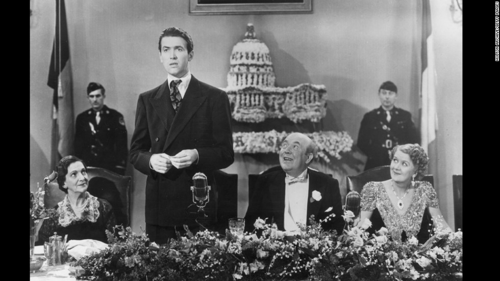 "Actor Jimmy Stewart played Jefferson Smith in director Frank Capra's 1939 film ""Mr. Smith Goes to Washington,"" in which he portrays an honest man thrust into the political limelight."