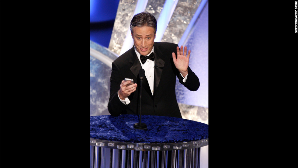 "Two-time host Jon Stewart was entertaining as ever when he took the stage in 2008 after the <a href=""http://www.latimes.com/news/la-fi-strike13feb13,0,1808341.story"" target=""_blank"">Hollywood writers' strike</a> had come to an end. With best picture nominees such as ""There Will Be Blood"" and ""No Country for Old Men"" (which won), <a href=""http://www.youtube.com/watch?v=eseTSTeF_jE"" target=""_blank"">Stewart joked</a>, ""Does this town need a hug?"" Referencing another contender, ""Juno,"" Stewart added, ""All I can say is thank God for teen pregnancy."""