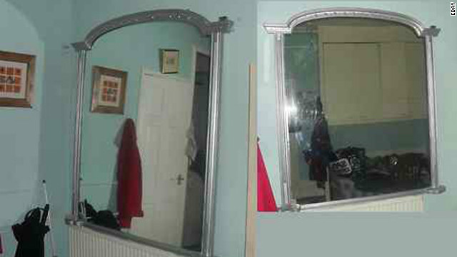 """Bloody Mary! Bloody Mary! This """"haunted"""" mirror sold on eBay for about $150. Because what could possibly go wrong?"""