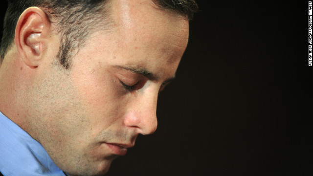 South African Olympic sprinter Oscar Pistorius is pictured at the Magistrate Court in Pretoria on February 22, 2013.