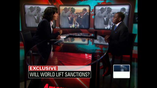 Christiane Amanpour & Robert Mugabe 2009