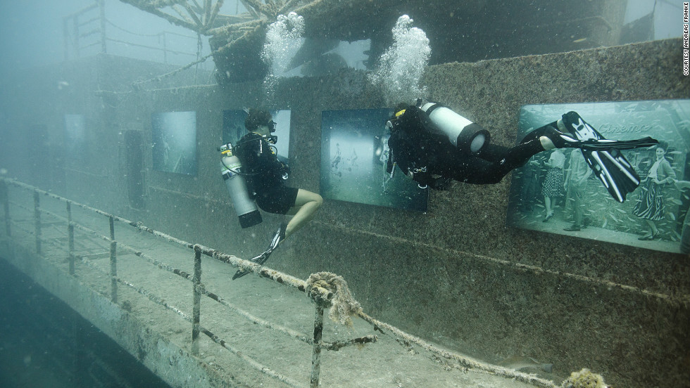 "More than 10,000 divers visited the underwater gallery. ""It's unique. Nobody has ever done a photography exhibition underwater before,"" said Dodd."