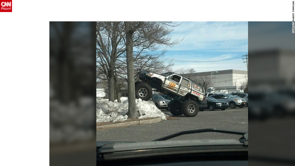 "Captured on Instagram, New York resident <a href=""http://ireport.cnn.com/docs/DOC-931626"" target=""_blank"">Robert Farrugia</a> says he sees this truck every so often as it drives through town, but has never seen it parked like this. He describes the vehicle as a Toyota 4 runner lifted to rock crawl."