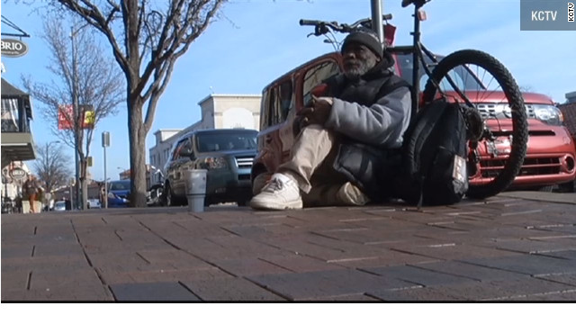 Billy Ray Harris is homeless and often stays under a bridge.