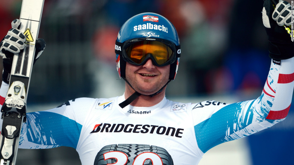 Georg Streitberger claimed second ahead of teammate Klaus Kroll as Austria became the first country to pass 500 World Cup podiums in any discipline, men or women.