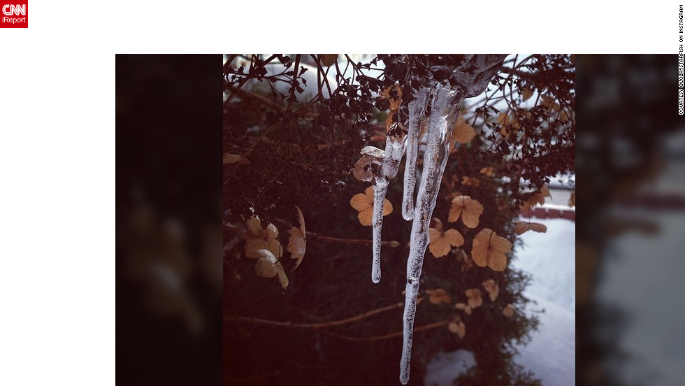 "<a href=""http://ireport.cnn.com/docs/DOC-932417"" target=""_blank"">Mette Semb-Lund</a> shares this lovely icicle photo and says it's about finding the beauty in the small things."