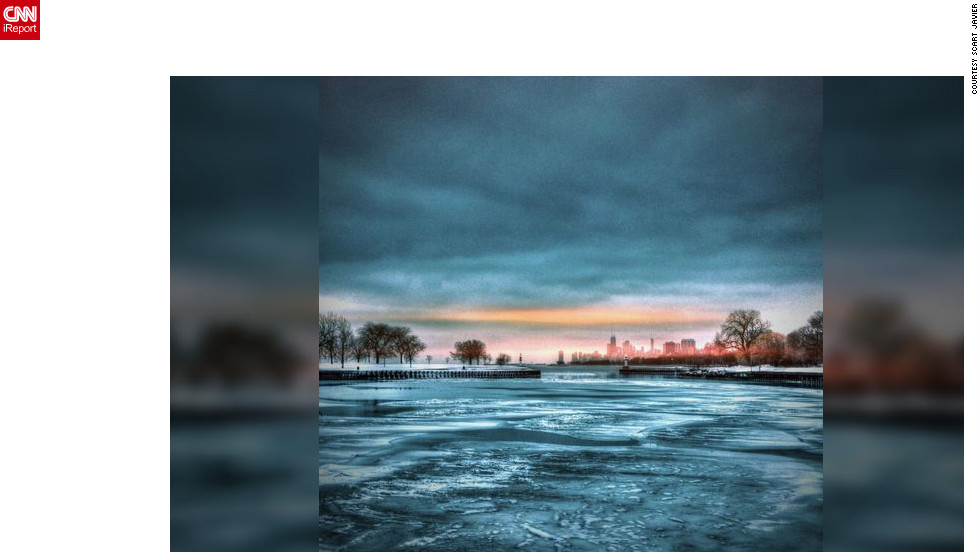 "<a href=""http://ireport.cnn.com/docs/DOC-931991"" target=""_blank"">Scart Javier</a> shot this photo using Instagram on Chicago's Lakefront Trail. ""I felt amazed to see the frozen lake,"" she said. ""It's look so calm and mysterious at the same time."""