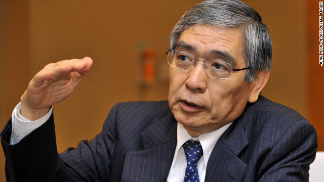 "Haruhiko Kuroda unveiled what he called a ""new phase"" of ""quantitative and qualitative monetary easing"