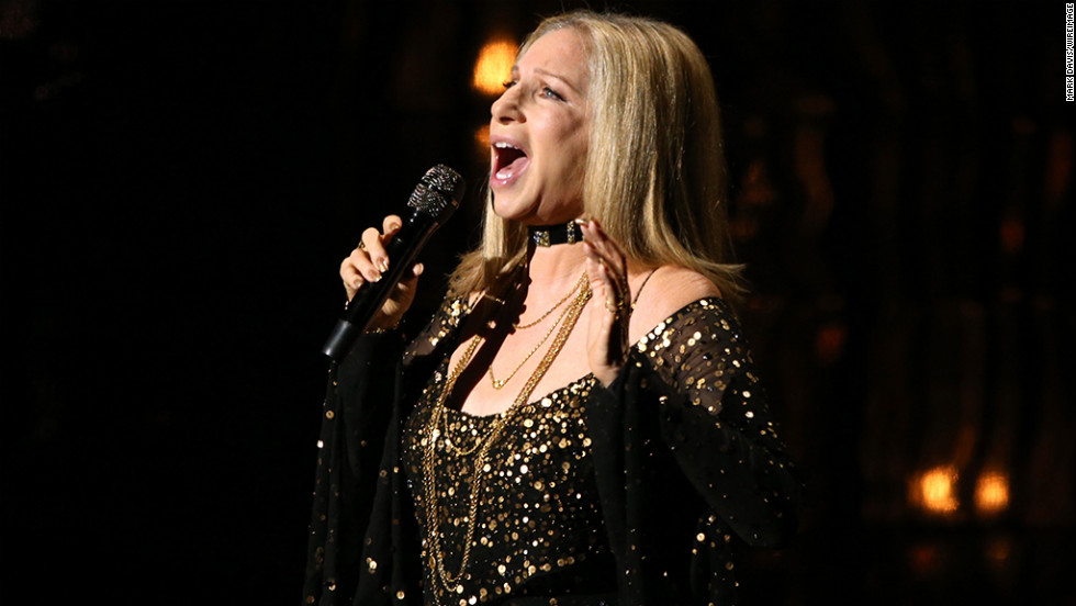 "Barbra Streisand performs ""Memories"" onstage to pay tribute to the late Marvin Hamlisch."