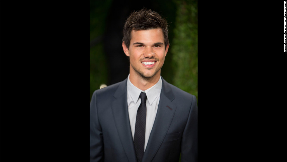 Taylor Lautner at the 2013 Vanity Fair Oscar party.