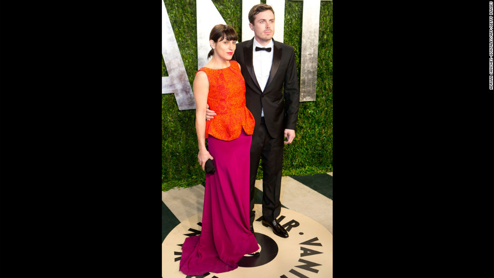 Casey Affleck, right, and guestat the 2013 Vanity Fair Oscar party.
