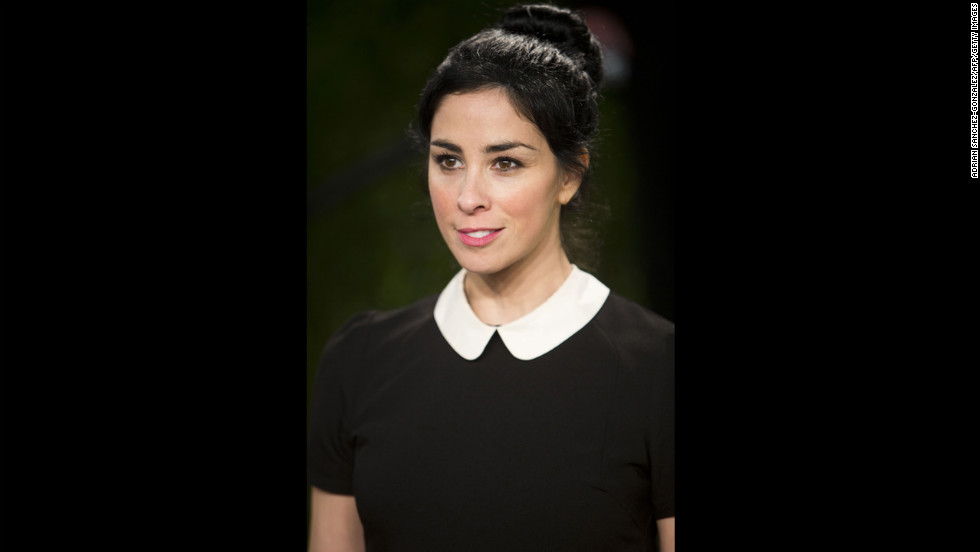 Sarah Silverman at the 2013 Vanity Fair Oscar party.