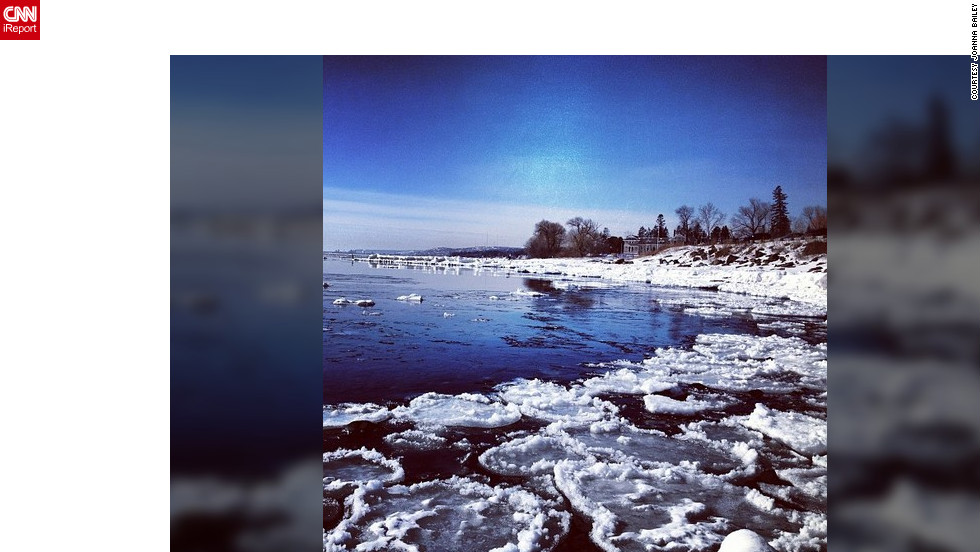 "<a href=""http://ireport.cnn.com/docs/DOC-932560"" target=""_blank"">Joanna Bailey</a> shot this photograph in Minnesota, as portions of Lake Superior began to thaw and break apart."