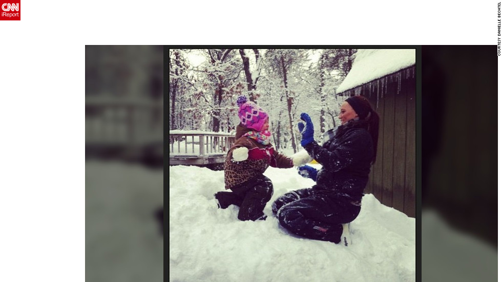 "What better than a little snowball fight on a winter's day in Atlanta, Michigan? <a href=""http://ireport.cnn.com/docs/DOC-932872"" target=""_blank"">Danielle Bechtel</a> shares this cute photo of her niece taking her best shot."