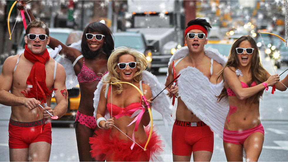"Not quite ready to go bareback? Cupid's Undie Run aims to raise money for <a href=""http://cupidsundierun.com/13/"" target=""_blank"">The Children's Tumor Foundation</a> by having participants race about a mile in their underwear every Valentine's Day weekend."