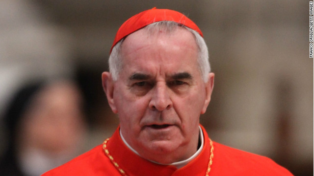 Cardinal Keith O'Brien, archbishop of Saint Andrews and Edinburgh attends a mass held by pope Benedict XVI in St. Peter's Basilica on February 19, 2012 in Vatican City, Vatican.