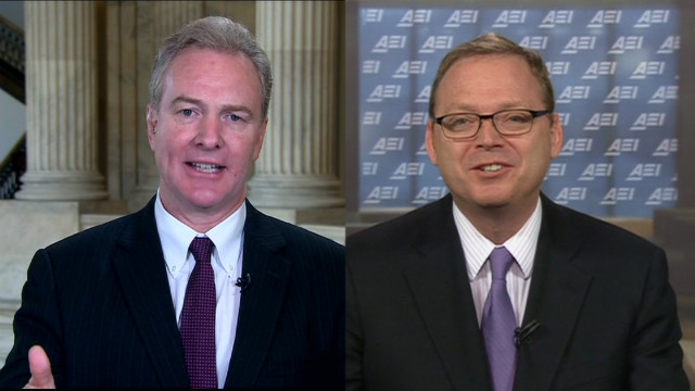 Chris Van Hollen, U.S. House Democrat and Kevin Hassett, American Enterprise Institute debate U.S. forced cuts