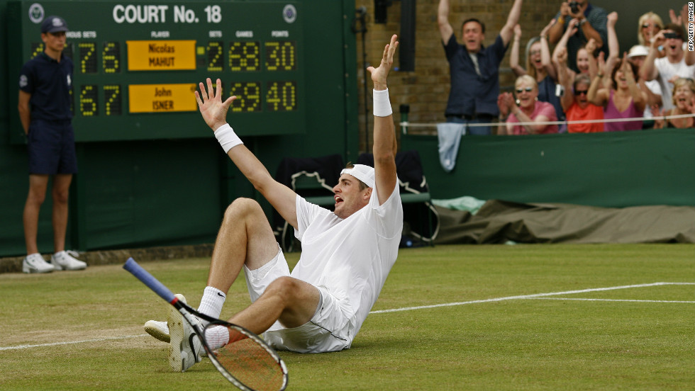 The game that started as a low key first round encounter at 6:13pm on Tuesday 22 June finally finished at 4:48pm on  Thursday 24 June, by which time the two protagonists were heroes the world over. Isner finally won 6-4 3-6 6-7 7-6 70-68.