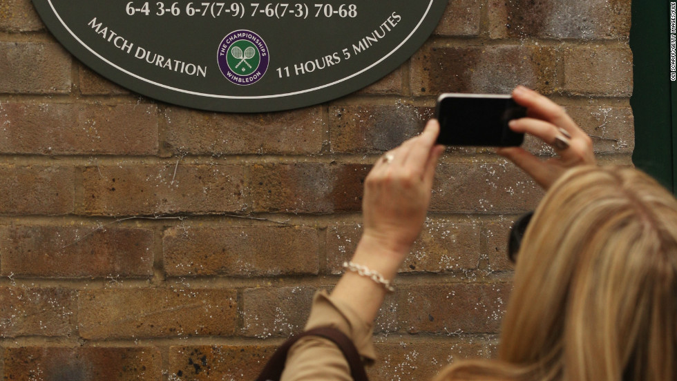 There is a plaque outside Court 18 at Wimbledon to mark Isner and Mahut's slice of history.
