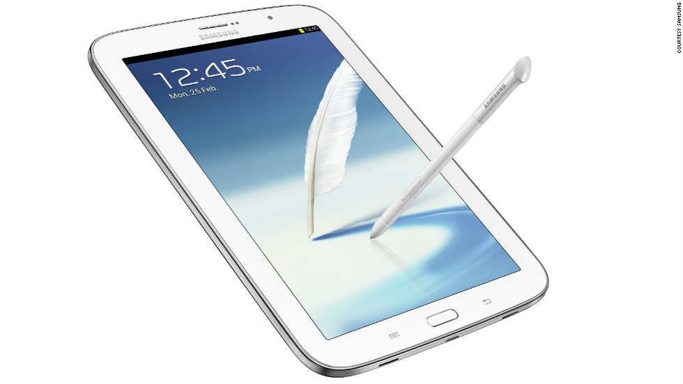 The 'phablet' seems to be MWC 2013's must-have item. Samsung's Galaxy Note 8.0 is an eight inch tablet with phone capabilities.