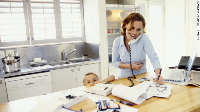 While telecommuiting can be a boon to working parents, that doesn't mean it's best for productivity, say experts.