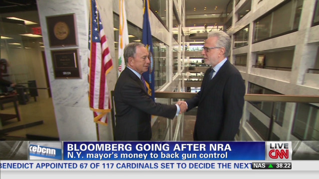 Bloomberg going after NRA