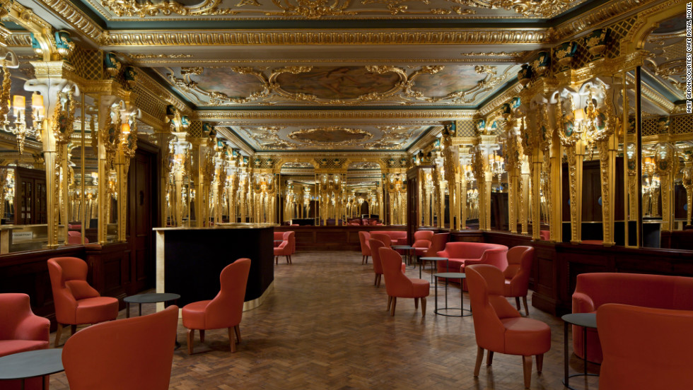 The opulent Louis XVI decor and detailing of Café Royal, which opened in December 2012 and is nestled between Soho and Mayfair, is the work of British architect David Chipperfield.