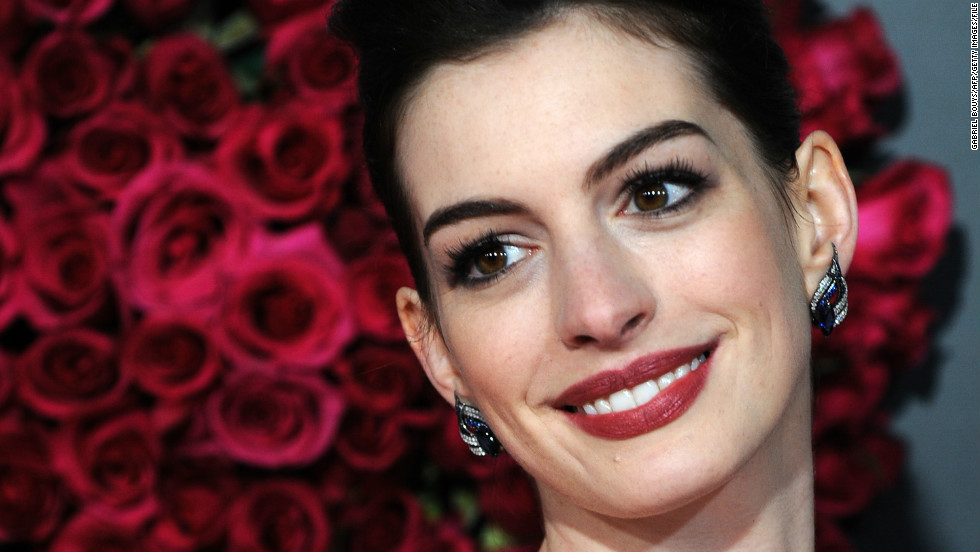 "Hathaway at the premiere of ""Valentine's Day"" at Grauman's Chinese Theatre in Hollywood in February 2010."