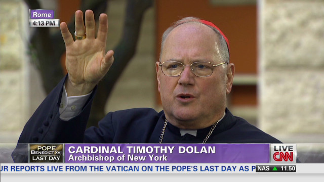 Cardinal Dolan on voting for next pope