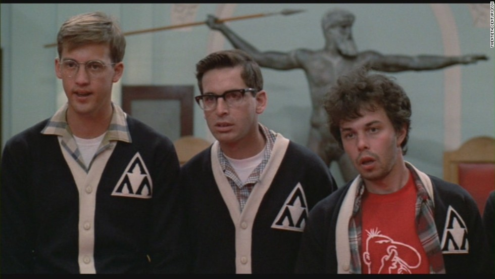 "Greek life never looked so good. Anthony Edwards, left, Robert Carradine, center, and Curtis Armstrong starred in ""Revenge of the Nerds."" When the men are left without a place to live, they start their own fraternity, Lambda Lambda Lambda."