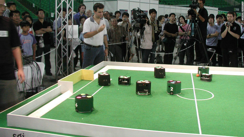 The idea for Kiva Systems stemmed from D'Andrea's work at Cornell University's robot soccer team.
