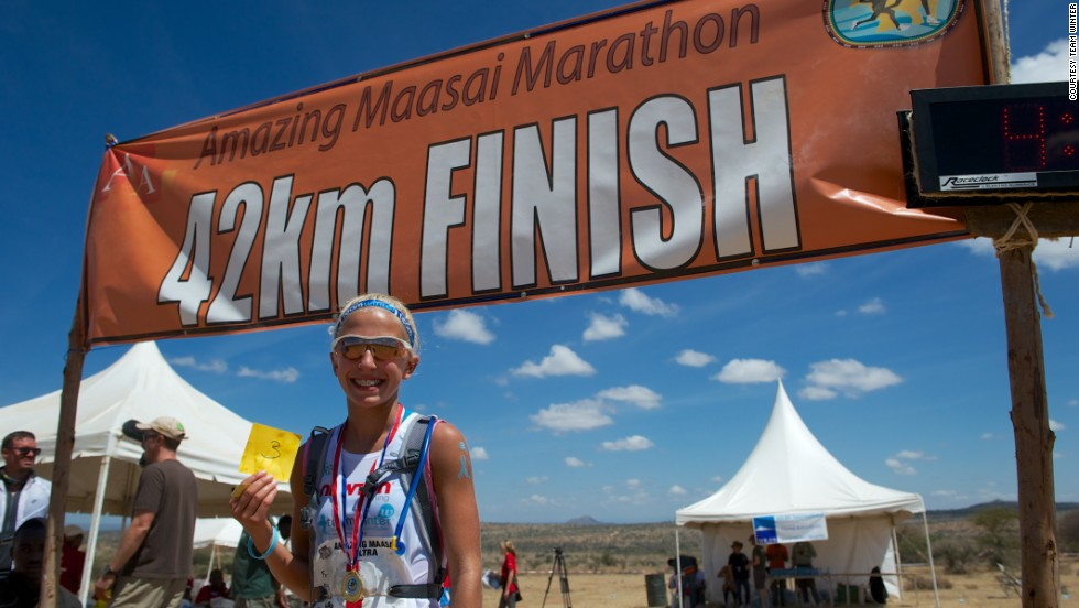 In September, Winter ran the Amazing Maasai Marathon in Laikipia, Kenya.