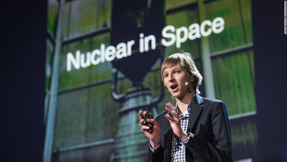 Taylor Wilson, 18, aims to build a safer form of nuclear reactors that could be used for spaceflight.
