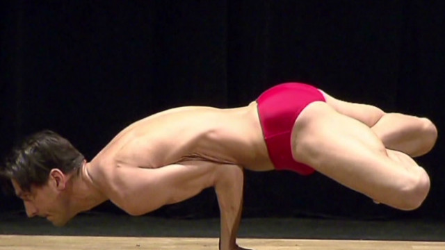 Competitive yogis show off their bends