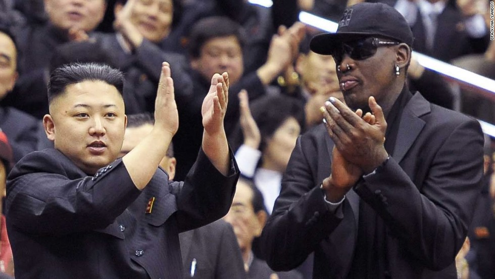 "After a visit to North Korea that included a basketball outing with Kim Jong Un, former NBA star Dennis Rodman called the country's supreme leader a ""friend for life."" In May 2013, Rodman <a href=""https://twitter.com/dennisrodman/status/331826019747127297"" target=""_blank"">asked Kim via Twitter to release U.S. citizen Kenneth Bae</a>, who was sentenced to 15 years of hard labor for unspecified ""hostile acts"" against North Korea."