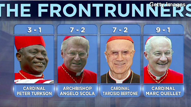 Gamblers place bets on the next pope