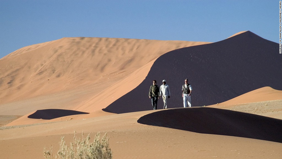 Few sights as surreal as the apricot-colored dunes at Sossusvlei, in the southern part of the Namib desert.