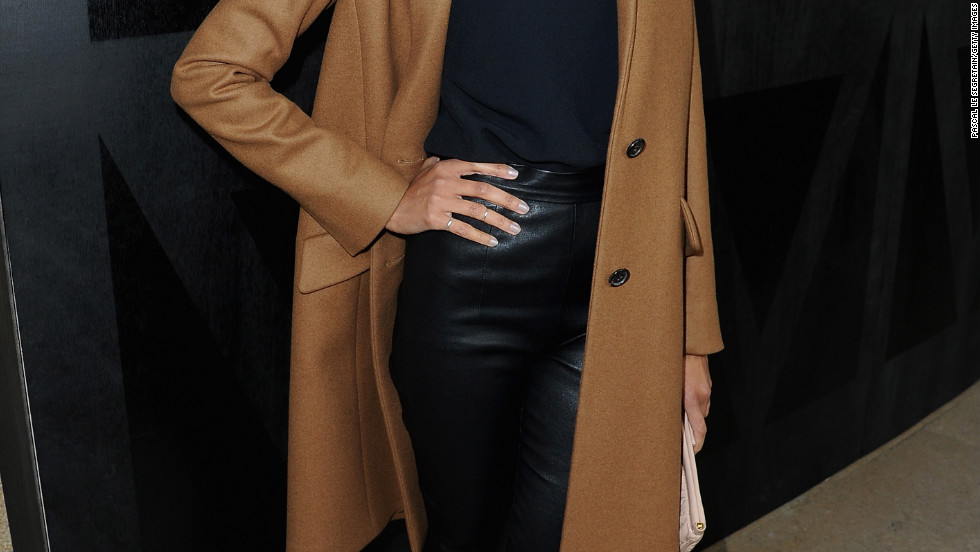 Zoe Saldana attends a fashion show in Paris, France.