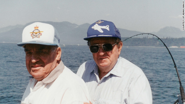 They met as enemies but Franz Stigler, on left, and Charles Brown, ended up as fishing buddies.